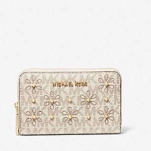 MICHAEL KORS Small Studded Floral Wallet